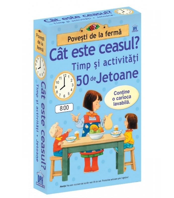 """""""Cat este ceasul-Timp si activitati-50 de jetoane"""""""