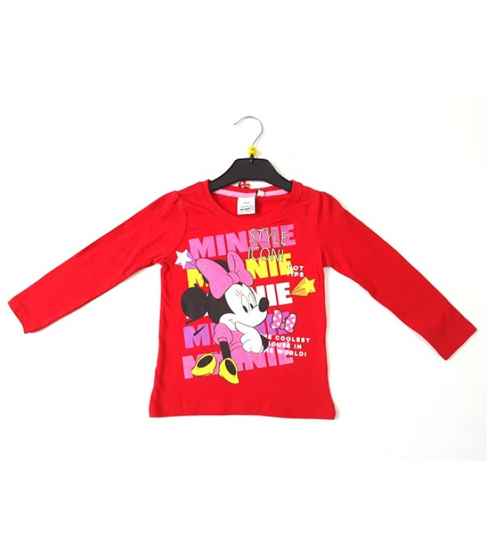 Bluza rosie Minnie Mouse 3-8ani
