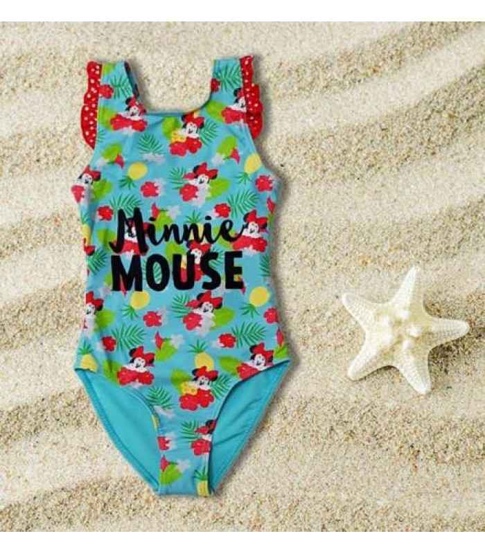 Costum de baie intreg Minnie Mouse tropical 3-8ani