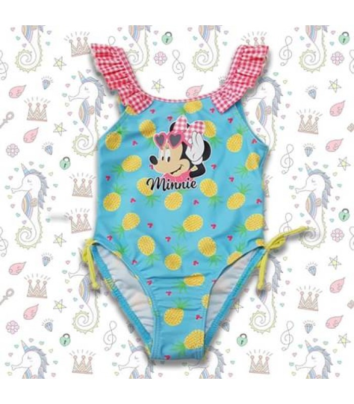 Costum de baie junior Minnie Mouse albastru 12-36luni