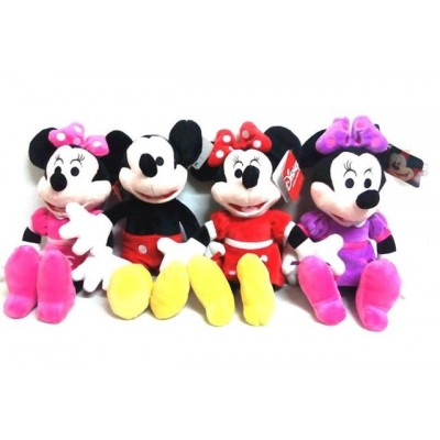 Set Minnie si Mickey Mouse plus muzical 35cm