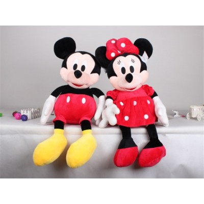 Mickey si Minnie Mouse set jucarii de plus muzicale 30cm