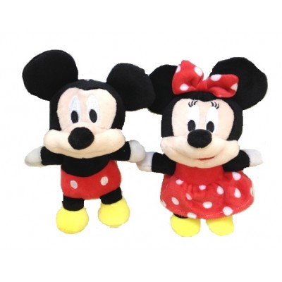 Set Mickey si Minnie plus 18cm rosu