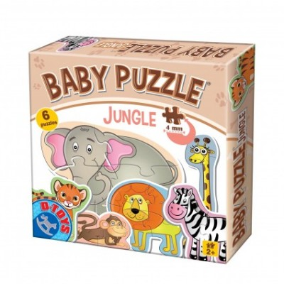 Baby Puzzle Animale din Jungla