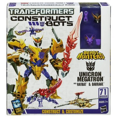 Transformers Constuct Bots Beast Hunters 3 in 1 Unicron Megatron, Ratbat, Barrage