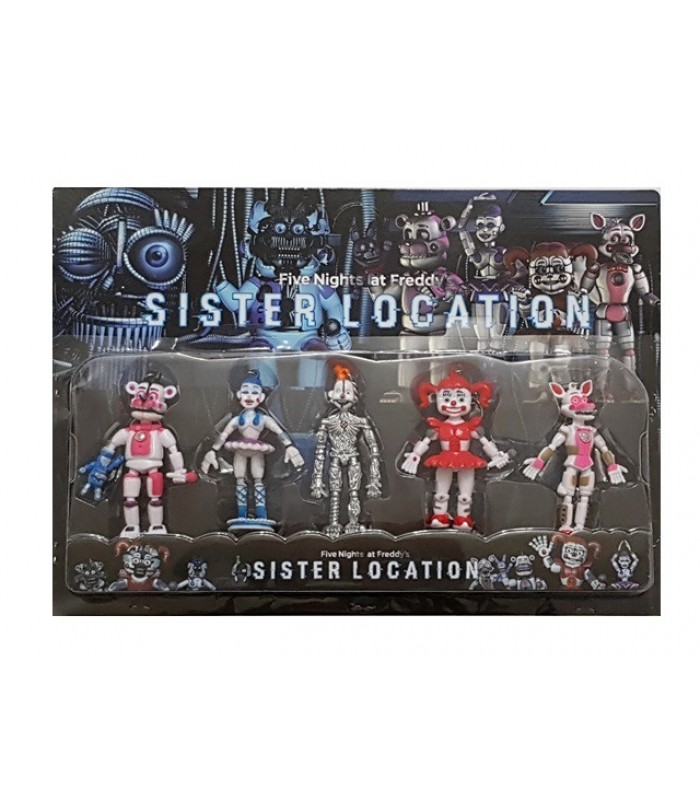 FNAF-Five Nights at Freddy'S Sister Location set 5 figurine