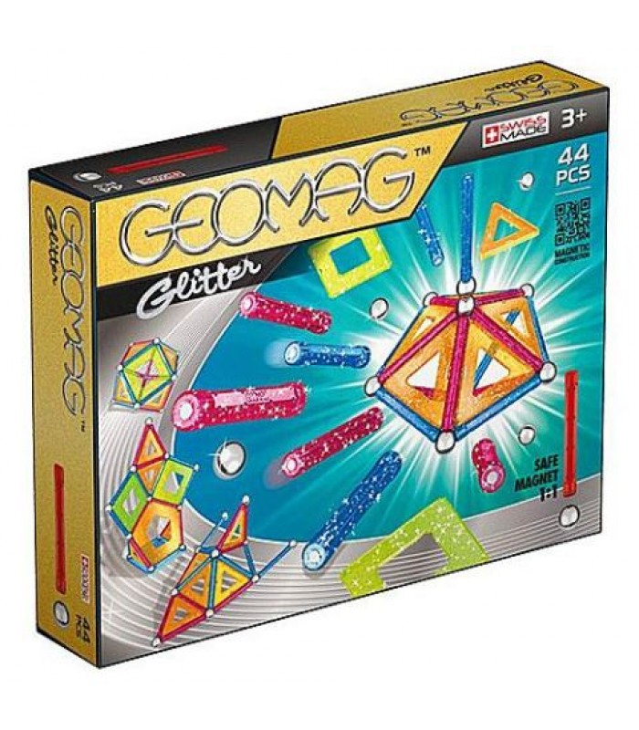 Set constructie magnetic Geomag Glitter 44 piese