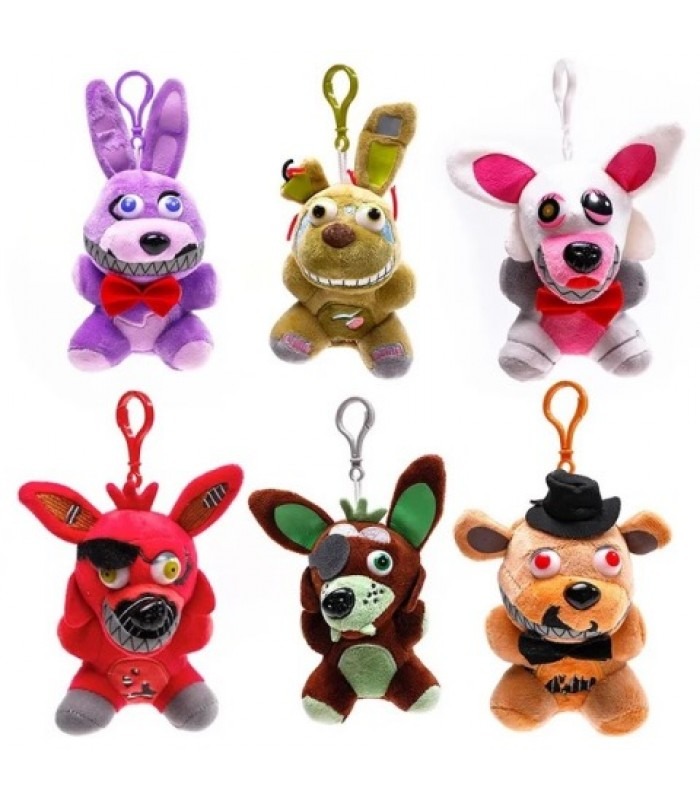 FNAF Five Nights at Freddy's set 6 jucarii de plus Nightmare Freddy