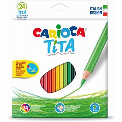 Set 24 creioane colorate hexagonale-Carioca