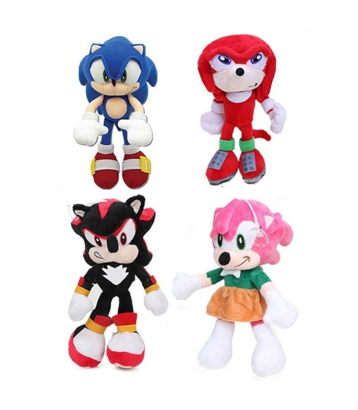 Sonic Hedgehog - set 4 jucarii de plus 30cm