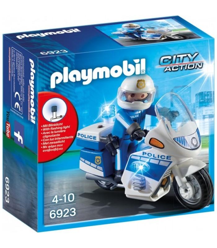 Playmobil City Action– Motocicleta politiei cu led (PM6923)
