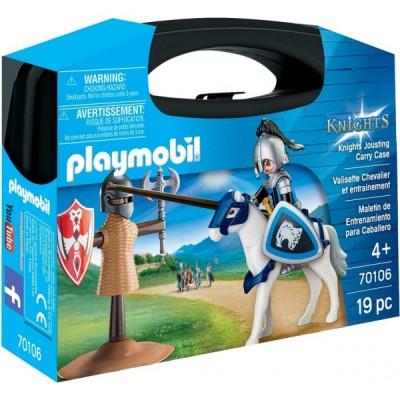 Playmobil Knights– Set portabil Cavaler si Cal (PM70106)