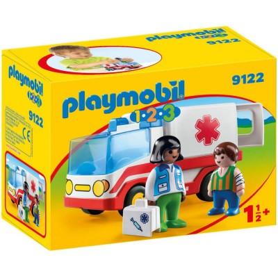 Playmobil 1.2.3.– Ambulanta si echipajul de salvare (PM9122)