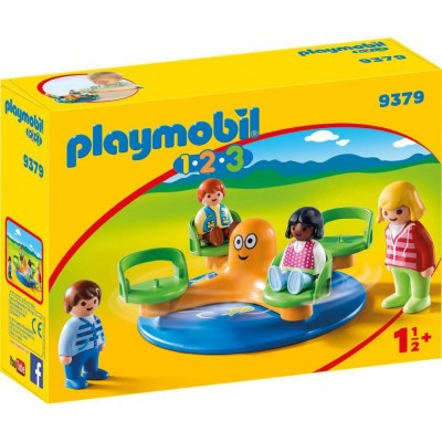 Playmobil 1.2.3 – Carusel copii (PM9379)
