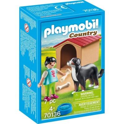 Playmobil Country– Fetita cu catel si cusca (PM70136)